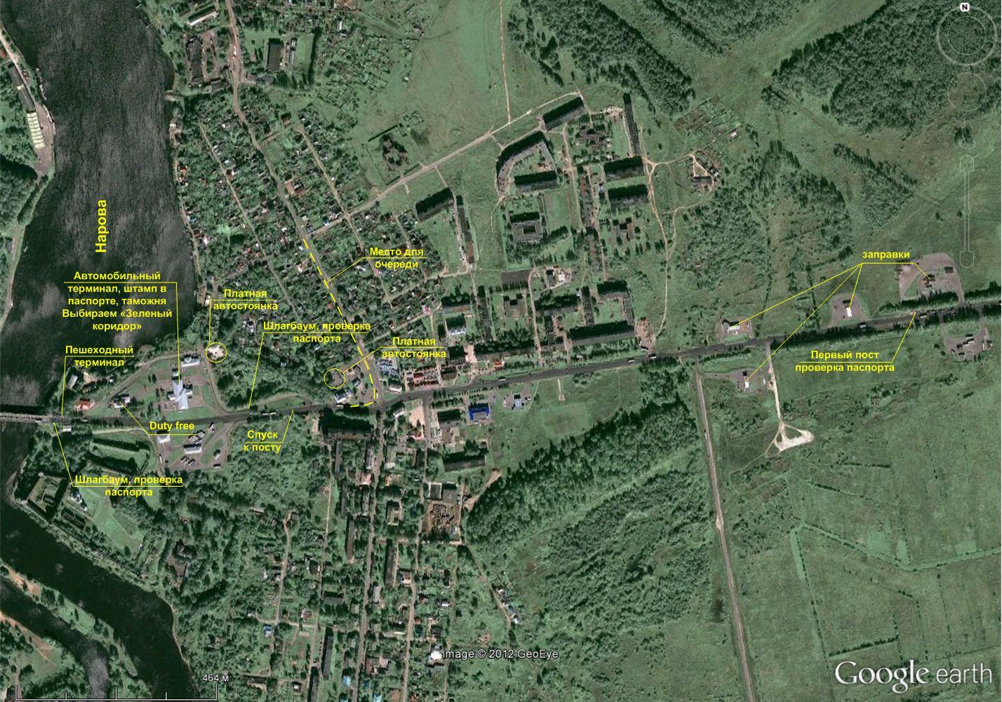карта Ивангорода