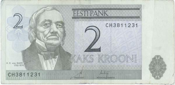 2 эстонские кроны